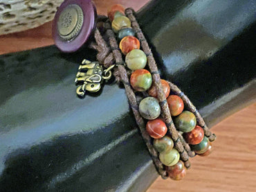 """Creativity, Harmony & Grounding"" Double Wrap Bracelet"
