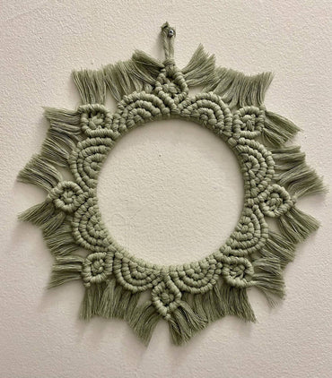 Small Macramé Flower Mandala