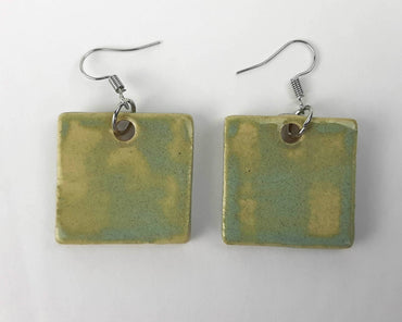 Green Stone Earrings