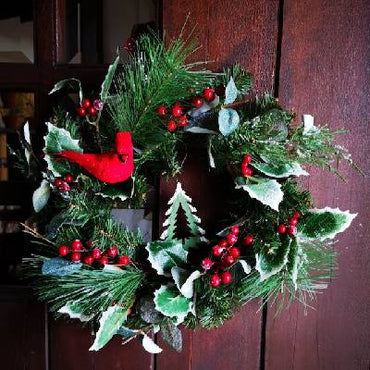 "14"" Holly Berry Wreath"