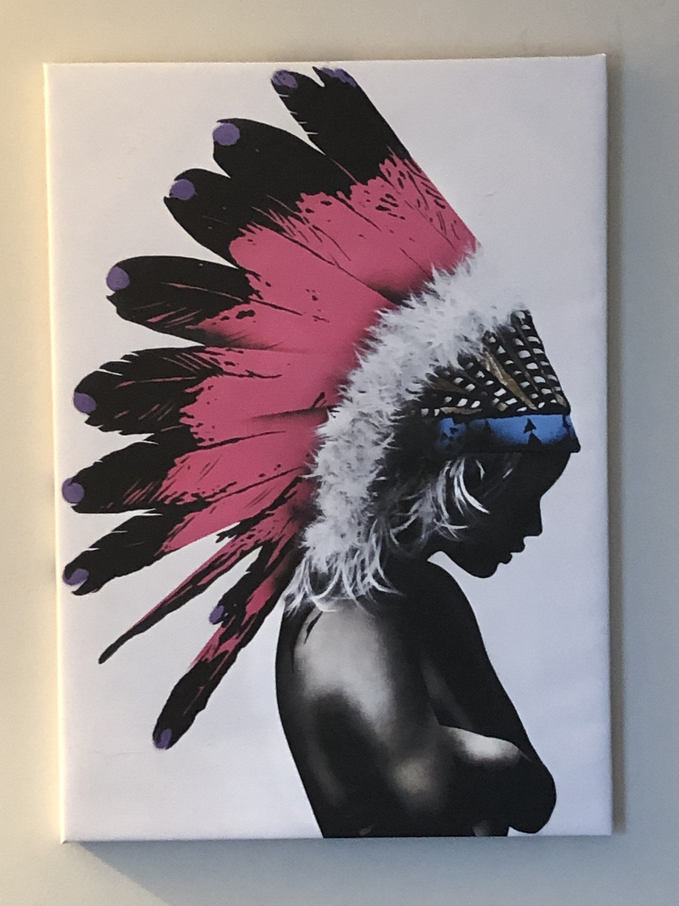 "Wall Decor. Abstract canvas print ""beautiful indigenous boy"""