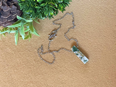 """Inner Peace, Tranquility & Plentitude"" Slab Pendant Necklace"