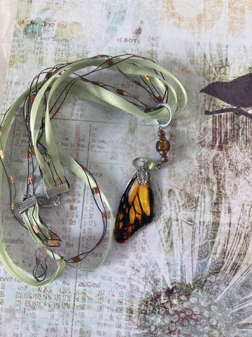 Romantic Monarch wing Necklace