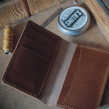 8 Pocket Handmade Veg Tanned Leather Wallet Customizable