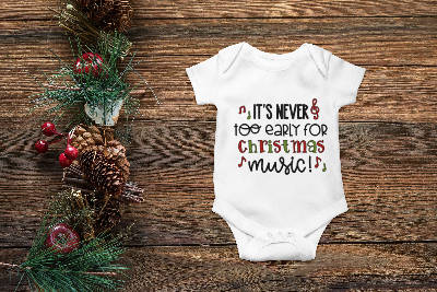 Christmas Music Onesie