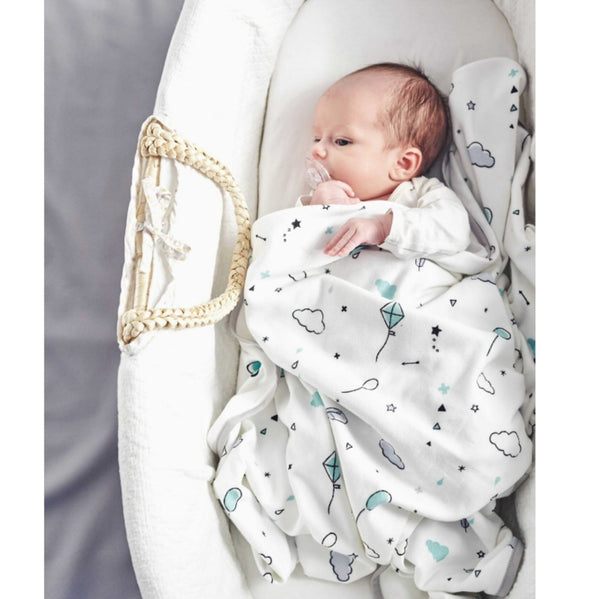 Photo swaddle blanket Minty