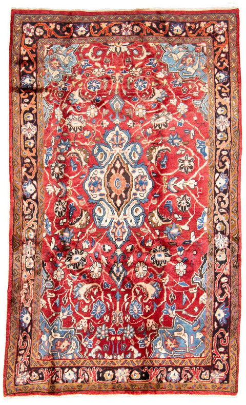 "MAHAL. Hand-Knotted Persian Rug, 4'3"" x 7'3""-Rug-B A B Y L O N"