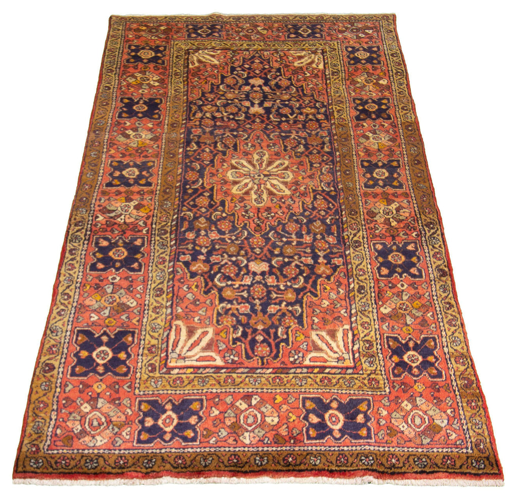 "MALAYER. Hand-Knotted Persian Rug, 4'7"" x 9'2""-Rug-B A B Y L O N"