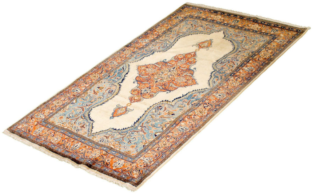 "SAROUGH. Hand-Knotted Persian Rug, 4'4"" x 7'4""-Rug-B A B Y L O N"