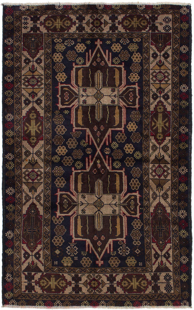 "TRIBAL. 3'7"" x 5'11""-[SKU]-Babylon-Rugs"