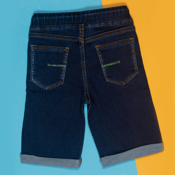 BOYS SLIM FIT DARK BLUE DENIM BERMUDA