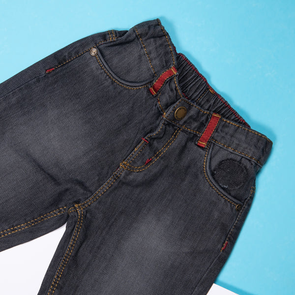BOYS BLACK CASUAL JEANS