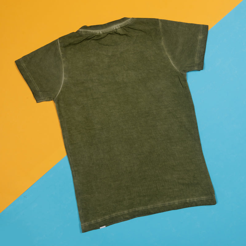 BOYS REGULAR FIT OLIVE T-SHIRT