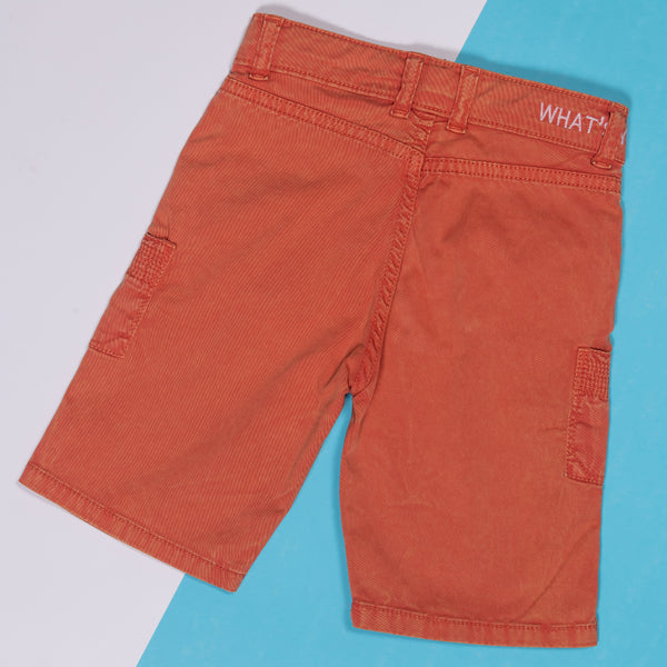 BOYS SLIM FIT ORANGE BERMUDA