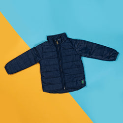 Boys Girls Dark Dlue Puffer Jacket