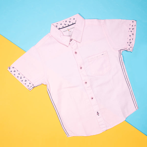 BOYS BUBBLEGUM PINK CASUAL SHIRT