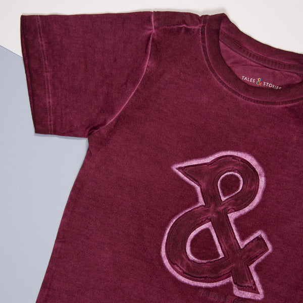 Boys Violet Cotton Regular T-Shirt