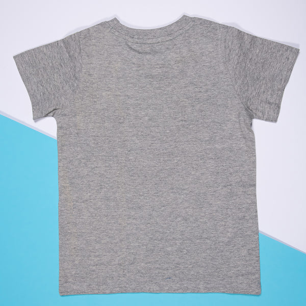 BOYS GREY COTTON REGULAR T-SHIRT