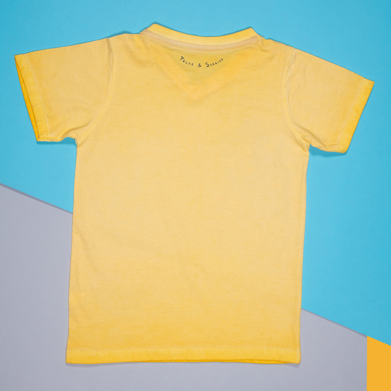 BOYS LIGHT YELLOW COTTON REGULAR T-SHIRT