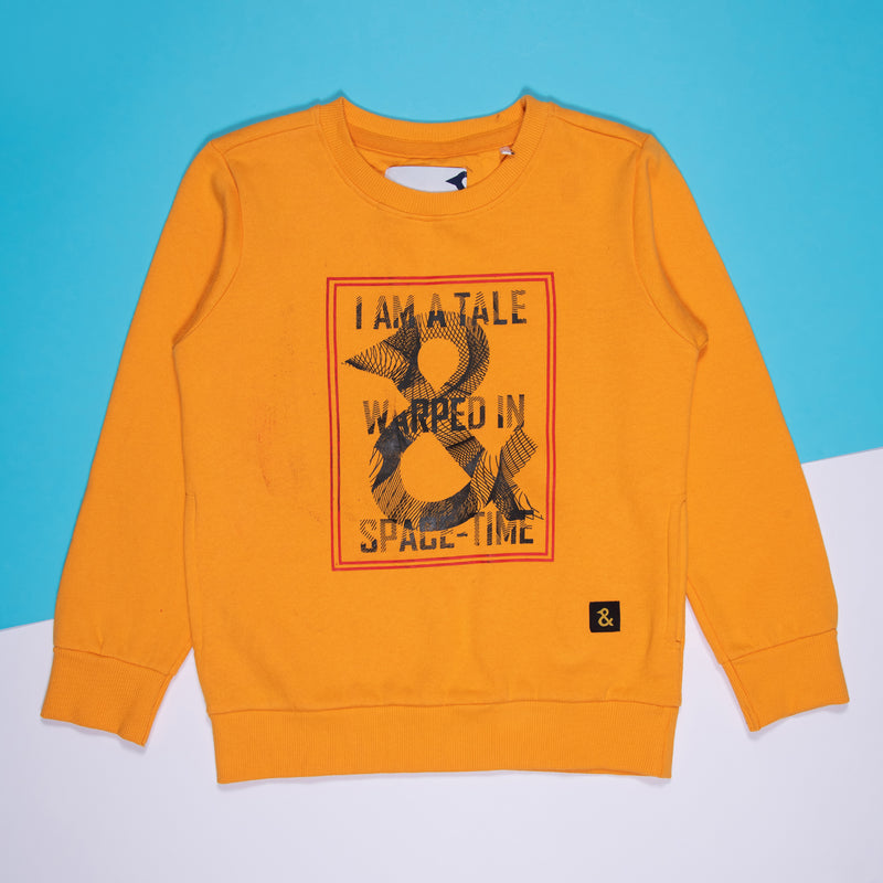 Boys Printeded Regular Musterd Sweatshirt