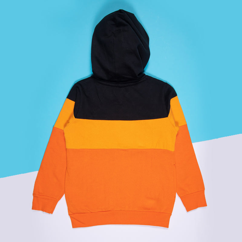 Boys Embroidered Regular Orange Sweatshirt