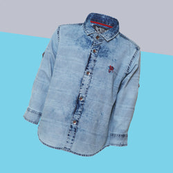 Boys Regular Fit Light Blue Denim Shirt