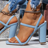 Massimoda Women Fashion Chunky Heel Sandals