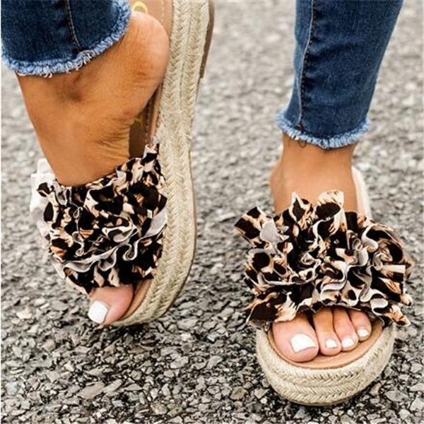 Massimoda The Bermuda Leopard Sandals