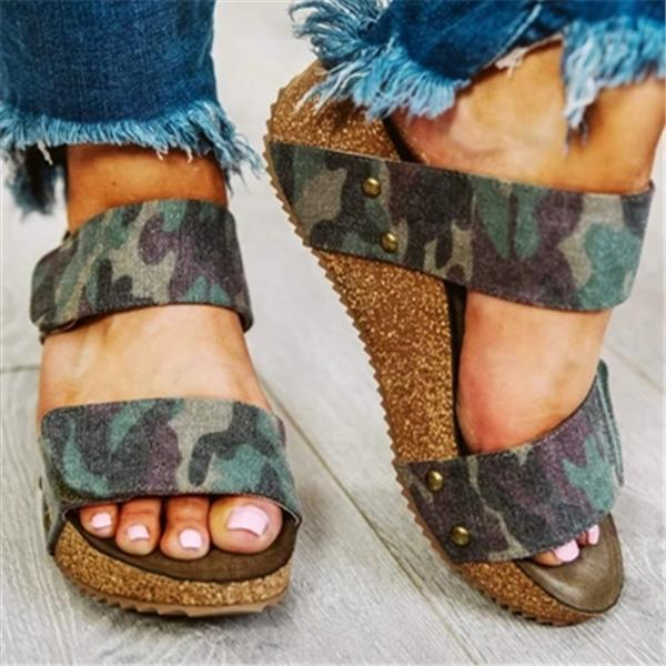 Massimoda Summer Wedge Sandals