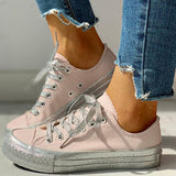 Massimoda Women Fall Winter Casual Lace-Up Sneakers