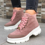 Massimoda Casual Lace Up Ankle Boots
