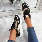Massimoda All Season Casual Lace Up Chunky Sneakers