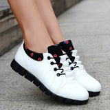 Massimoda Women Trendy Mixed Colors Lips Pattern Sneakers