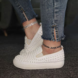 Massimoda Women Athletic Rivet Platform Sneakers
