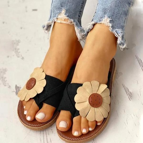 Massimoda Casual Fashion Summer Flower Sandals