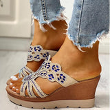 Massimoda Platform Wedge Casual Sandals