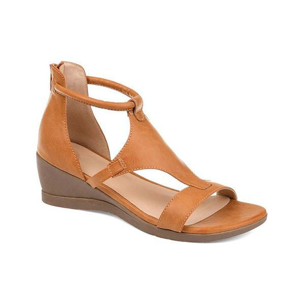 Massimoda Women Casual Daily Wedge Sandals