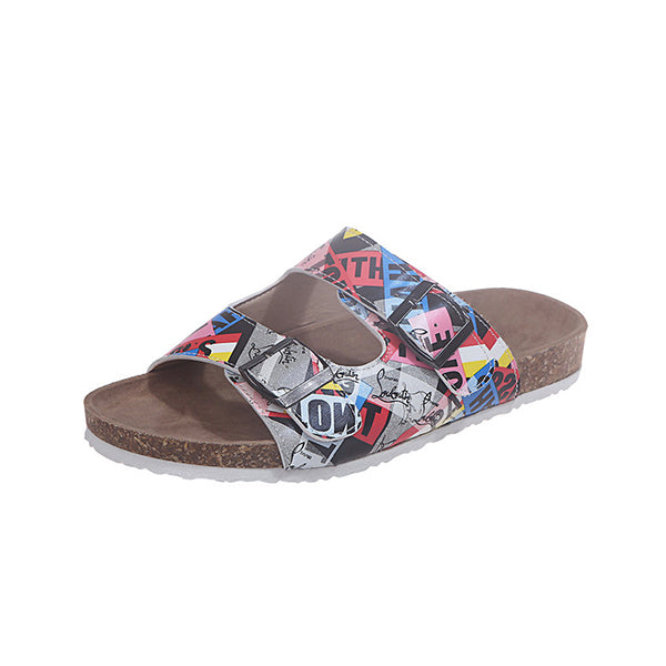 Massimoda Women Alphabet Pattern Slippers