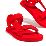 Massimoda Velcro Strap Closure Flat Sandals