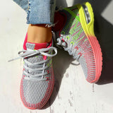 Massimoda Women Colorblock Knitted Breathable Sneakers
