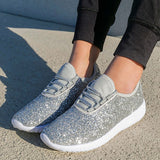 Massimoda Sequins Slip-On Sneakers