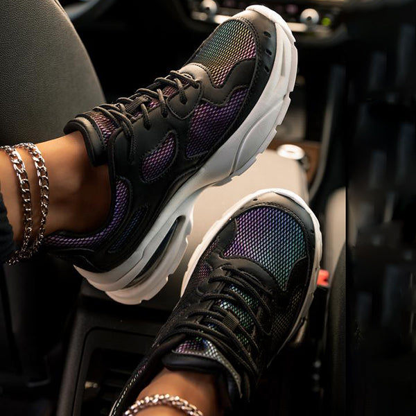 Massimoda Fashion Daily Lace-Up Sneakers