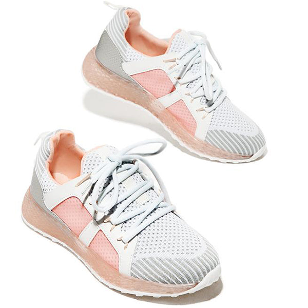 Massimoda Women Fashion Sport Lace-Up Sneakers