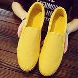 Massimoda Women Casual Canvas Solid Color Flats