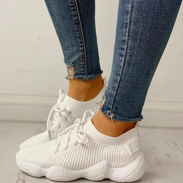 Massimoda Net Surface Breathable Non-Slip Sneakers
