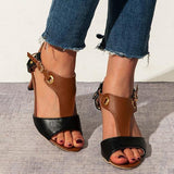 Massimoda Stiletto Heel Buckle Spring/fall Pu Casual Women Sandals
