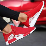 Massimoda Fashion Design Breathable Air Mesh Slip On Sock Sneakers