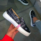 Massimoda Fashion Slip on Printed Loafers/Sneakers
