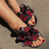 Massimoda Fashion Women Summer Open Toe Low Heel Bohemian Sandals