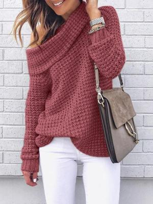 Massimoda Fall Oversized Cable Pullover Sweater